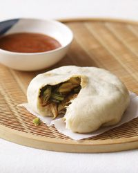 Asian Steamed Buns with Bok Choy and Chinese Chives Recipe