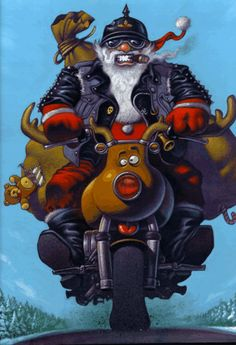 free-blackharley: free-blackharley:This image gonna be here into my blog many times! Merry Christmas! rwa42: ♫♫Santa Clause is coming to town♫♫