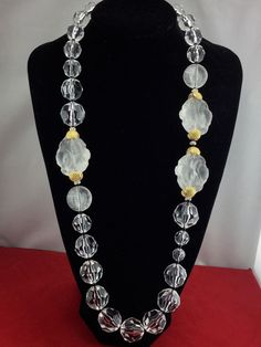ANGELA CAPUTI Yellow Multi Resin Bead Golden Metal Pearl Fringe Collectible Neck   Jewelry & Watches, Vintage & Antique Jewelry, Costume   eBay!