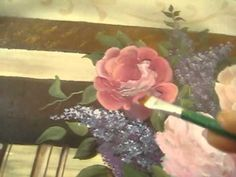 Painting Roses 2/4 - How To Paint Roses with Acrylic Paints