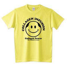 【世紀の発見】コラーゲンでハゲが治る!コラーゲン注入マークDesign   デザインTシャツ通販 T-SHIRTS TRINITY(Tシャツトリニティ)