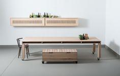 Meint table, Meint cabinet and Dubeld seatboxes Pilat&Pilat