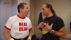 """""""Rowdy"""" Roddy Piper runs into Shawn Michaels backstage on Raw: August 13, 2012"""