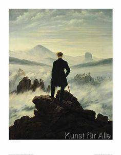 Caspar David Friedrich - Der Wanderer im Nebelmeer