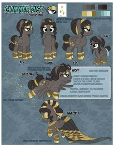 Reference Sheet: Glimmer Dust by Nazegoreng on DeviantArt