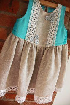 Linen dress for Miss A (inspiring)