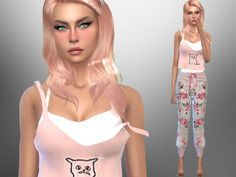 The Sims Resource: Clover Burn  by divaka45 • Sims 4 Downloads