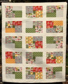 Northern Exposure quilt pattern | Flickr - Photo Sharing! nice scrappy for focus fabrics