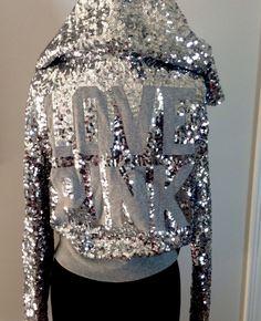 VS PINK Bling Sequin hoodie♥!
