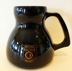Westlake Fire Department TEXAS Late 1990's Non-Spill Plastic Coffee Mug