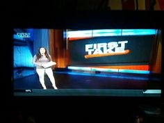 Hot Molly Qerim in Brown Sweater and White Pants