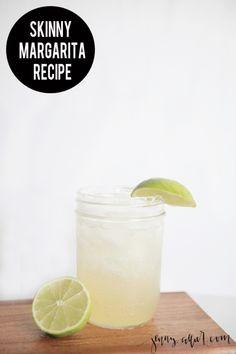 A delicious and simple skinny margarita recipe. http://jennycollier.com/skinny-margarita-recipe/