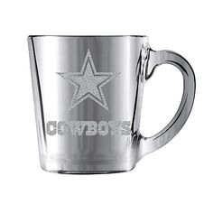 NFL Dallas Cowboys Glacier Glass Mug available at shop.dallascowboys.com