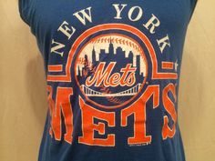 1989 New York Mets Baseball Tank Top Tee Size By CuratedClothing, $22.00