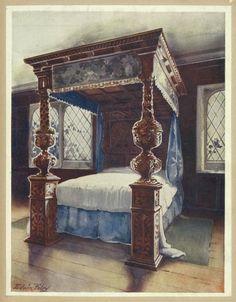 The littlecote bedstead. The property of Vincent Robinson, Esquire, F. S. A., Parnham, Dorset.