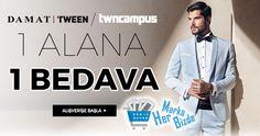 Damat, Tween, Twncampus, Marka Ürünlerde 1 Alana 1 Bedava! http://www.hermarkabizde.com/index.php?dispatch=collections.product&collection_id=7860&utm_campaign=Damat+Tween+%2F+twncampus+1+Alana+1+Bedava