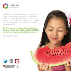 At Genesis, we take extra care of children's hydration and nourishment during the summer months. Watermelon is a fruit that comprises of 90% water and is extremely healthy and beneficial for kids during the hot summer months.