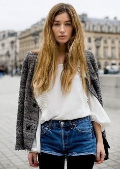 Marant tweed & cutoffs. Paris.