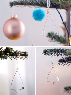 quick and easy #DIY ornaments for your christmas tree #copper #paper #xmas