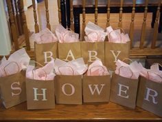 game - baby item inside each bag starting with that letter and guests guess item
