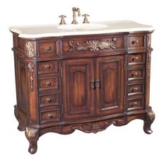 Classic Antique Vanity For Bathroom 9