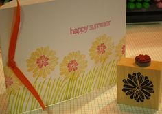 summer flowers - two on one stamp