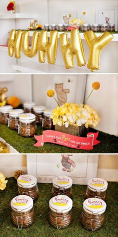 Classic + Modern Winnie the Pooh Baby Shower // Hostess with the Mostess®