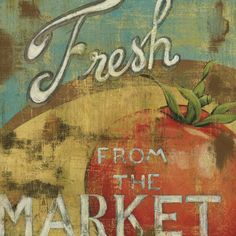 Farmer's Market--Love this kind of art, love farmers' markets and love fresh veggies...this is a win, win, win!!!