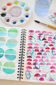 Maybe it's time to break out the water colors again.   Jaimie Myers, Illustrator and Creative Director - Wandeleur