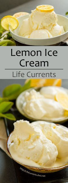 Lemon Ice Cream - I love custard-based ice cream. So thick and rich. So creamy. Luscious! So pleasing to the tongue and the tummy! Perfect for summer!