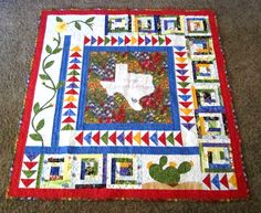 Texas Wildflower Quilt for Aunt Susie's BD!