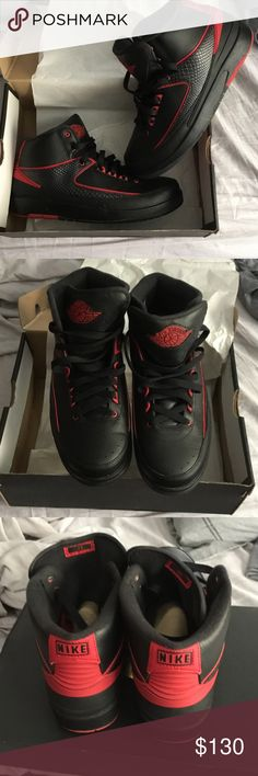 Jordan retro 2 Black & varsity red retro 2 Size 7y brand new in box Nike Shoes Sneakers