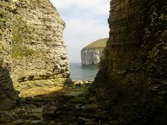Day out in the caves at Flamborough, Yorkshire, England.