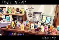 Feine Billetterie Adventsmarken2013 日本のお客様の作品 Liquor Cabinet, Advent Calendar, Xmas, Storage, Handmade, Home Decor, Branding, Life, Purse Storage