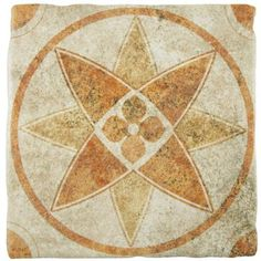Merola Tile Costa Arena Decor Starflower 7-3/4 in. x 7-3/4 in. Ceramic Wall and Floor Tile (11.5 sq. ft. / case)-FEB8CAD5 - The Home Depot