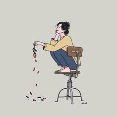 Empty Souls, Empty Minds, Empty Vibes Pinterest: LoveMeSoNaturally Pretty Art, Cute Art, Character Illustration, Illustration Art, Korean Art, Aesthetic Art, Cartoon Art, Cute Drawings, Art Sketches