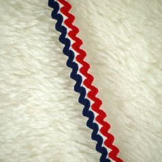 One YARD, Vintage 1950s, Rick Rack Trim, Red White Blue Stripes, 1/2 Inch Wide, L155 by DartingDogCrafts on Etsy