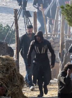 Michael Fassbender filming Assassin's Creed