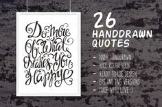 26 Handdrawn Romantic Posters by Favete Art on Creative Market