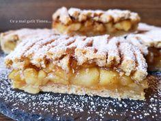 Placinta cu mere, portocala si scortisoara - Retete Timea Sweets Recipes, Desserts, Apple Pie, Good Food, Tailgate Desserts, Deserts, Postres, Dessert, Healthy Food