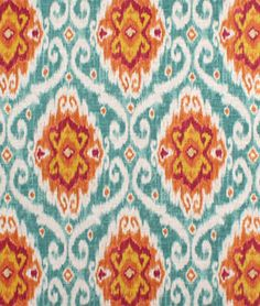 Just a ton of fun. Pillows, accent chair, etc. Shop Iman Ubud Sunstone Fabric at onlinefabricstore.net for $26.15/ Yard. Best Price & Service.