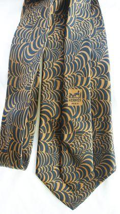 Hermes silk tie - pure vintage