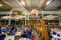 Wonderful, Huge Gollum Airport Sculpture. Welcome to New Zealand