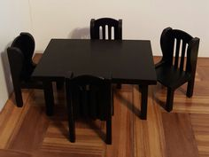 Check out this item in my Etsy shop https://www.etsy.com/listing/482721759/black-16-scale-table-and-4-chair-set-16