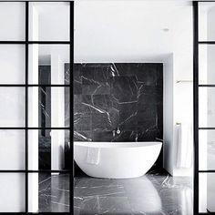 B A T H R O O M #bathroominspo #marble #marblebathroom Reposted Via @snobfashionblog