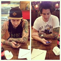 Romantic lunch at Nandos with @tonyperry Photo by ptvjaime #PTV