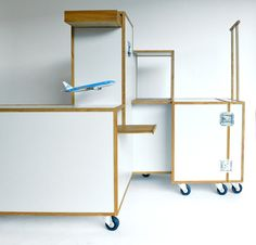 Simple, streamlined and made to last for years on end, the iconic airplane aisle beverage cart hasn't changed much in the last few decades, and now its design has been applied to a space-saving solution for the home. While the perks and aesthetics of air travel have undeniably gone downhill si ...