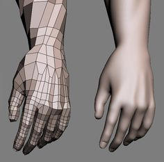 This in particular is extremely helpful to me because I have had extreme difficulty modeling hands and fingers and making them look good. The topology here looks like what I want and what I would try for if I were to model a hand. Blender 3d, Blender Models, Maya Modeling, Modeling Tips, Modeling Techniques, 3d Model Character, Character Modeling, Character Design, Zbrush Character