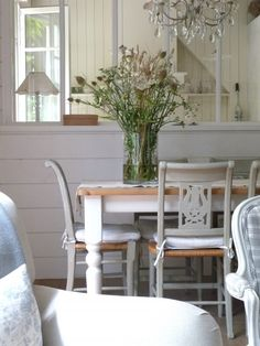 HAVE TABLE BUT LOVE PAINTED CHAIRS   Simple