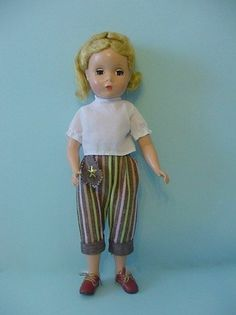 "14"" old vintage hard plastic 1950s Maggie Face blonde hair Madame Alexander Doll"